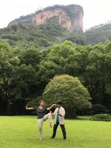 Qigong practice in Mount Wuyi