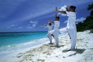 qi gong beach